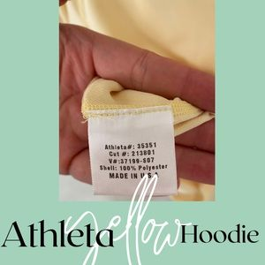 Athleta yellow workout hoodie